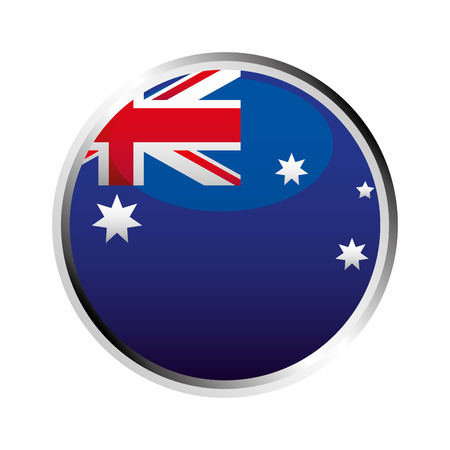 australia flag button symbol on white background vector illustration 向量圖像