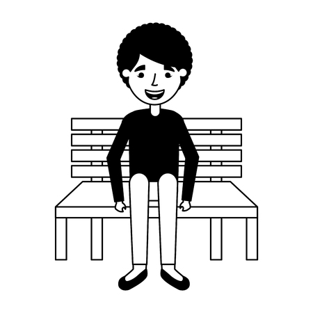 old woman sitting on bench vector illustration Stock fotó - 113819071