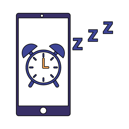 mobile clock alarm sleep app vector illustration Illustration