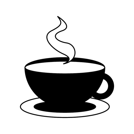 hot coffee cup on white background vector illustration