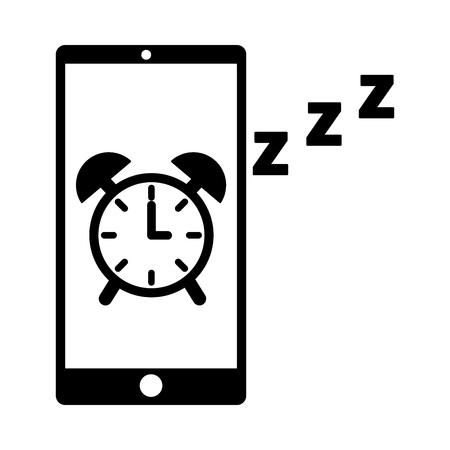 mobile clock alarm sleep app vector illustration Foto de archivo - 126820892