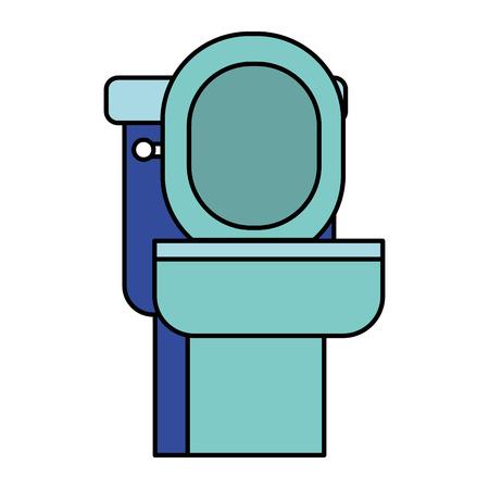 bathroom toilet on white background vector illustration Ilustração