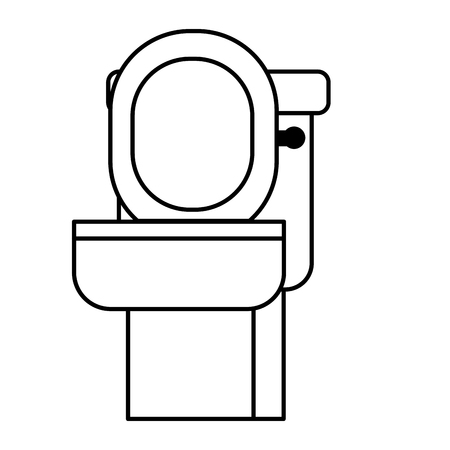 bathroom toilet on white background vector illustration Ilustrace