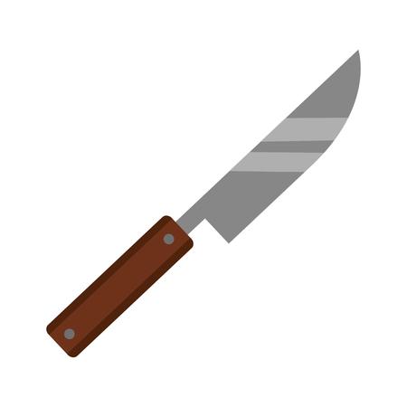 knife utensil kitchen on white background vector illustration  イラスト・ベクター素材