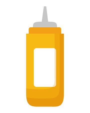 mustard sauce on white background vector illustration Vetores