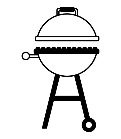 grill barbecue on white background vector illustration Illustration