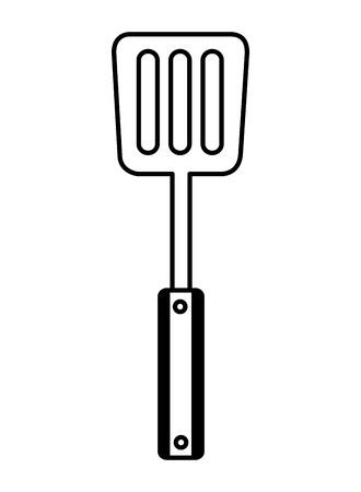 spatula utensil kitchen on white background vector illustration Illusztráció