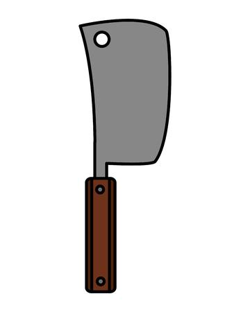 meat cleaver utensil kitchen on white background vector illustration Stock Vector - 126821078