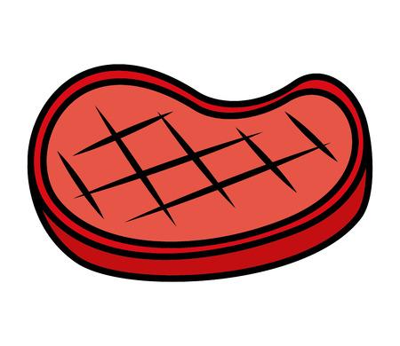 meat steak on white background vector illustration