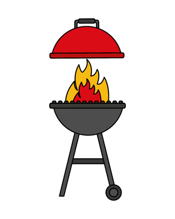 grill barbecue flame on white background vector illustration Standard-Bild - 113826128