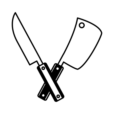 knives utensils on white background vector illustration 向量圖像