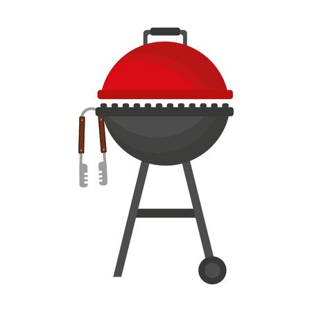 Grill- und Zangenausrüstungsvektorillustration