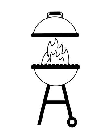 grill barbecue flame on white background vector illustration