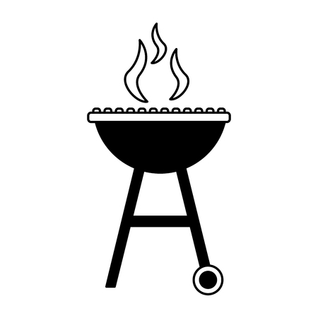 barbecue grill smoke hot white background vector illustration Stock Vector - 126821177