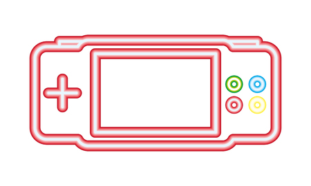 gamepad gadget neon video game vector illustration