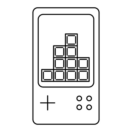 portable console video game white background vector illustration
