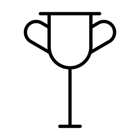 trophy cup on white background vector illustration