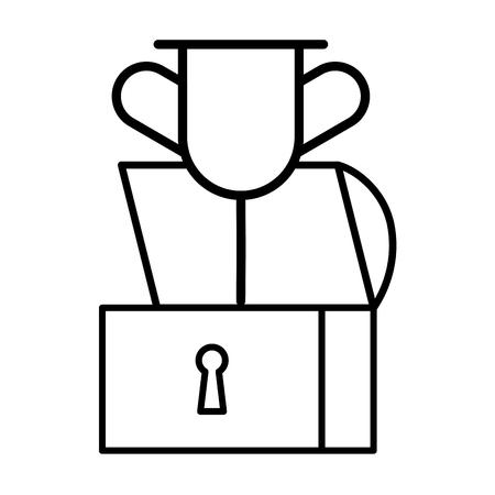 chest treasure trophy on white background vector illustration Illustration