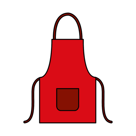 red apron on white background vector illustration vector illustration