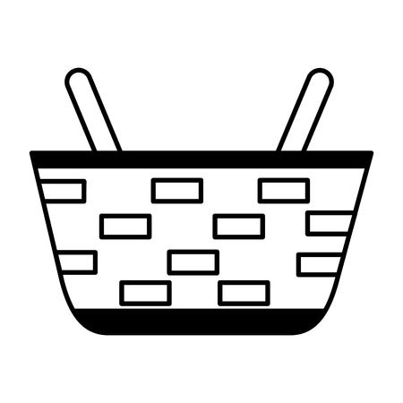 wicker basket on white background vector illustration vector illustration