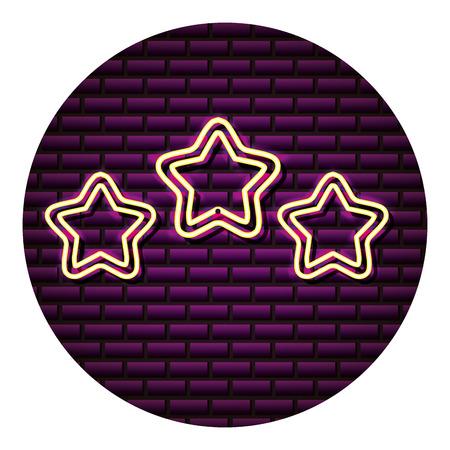 light stars decoration neon wall vector illustration