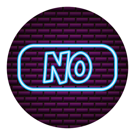 no lettering neon video game vector illustration