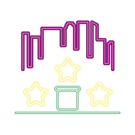 city star level neon video game vector illustration vector illustration