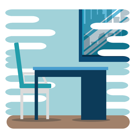 office analysis business strategy plan vector illustration Illustration