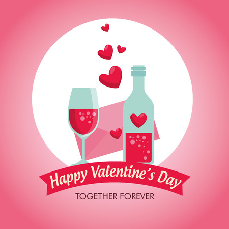 potion love and glass with valentine card vector illustration Standard-Bild - 126788640