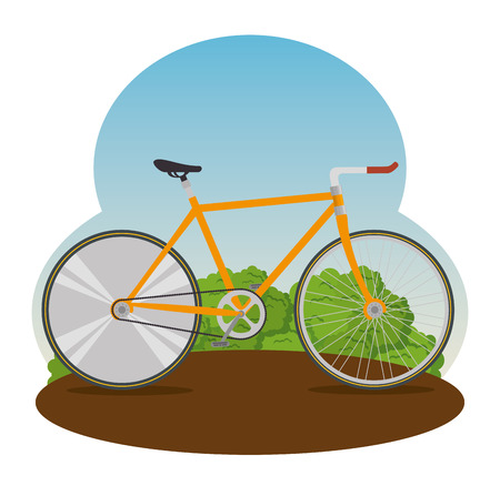 bicycle design transport with wheel and chain vector illustration