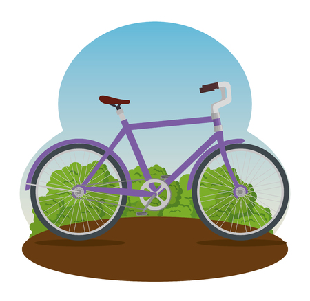 extreme bicycle transport vehicle to exercise vector illustration