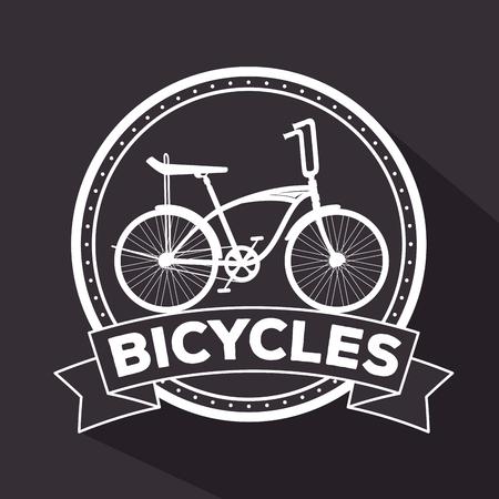 emblem of extreme bicycle transport vehicle to exercise vector illustration Ilustrace