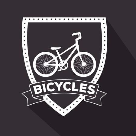 emblem of bicycle design transport vehicle vector illustration