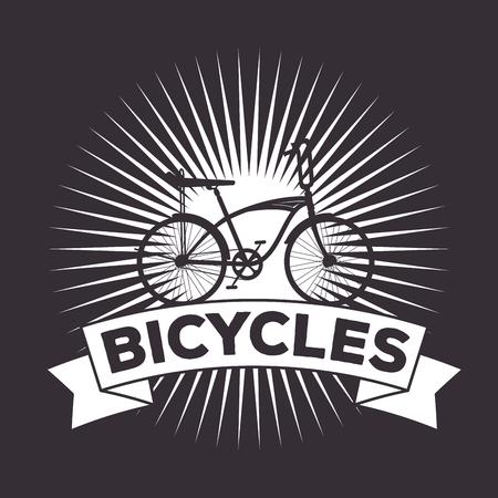 bicycle extreme sport transport design vector illustration Ilustrace