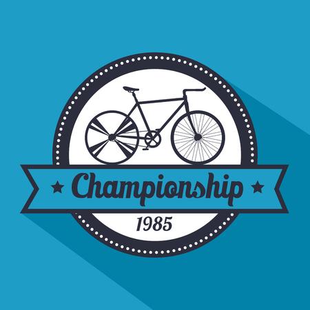 bicycle emblem championship transport sport vector illustration Ilustrace