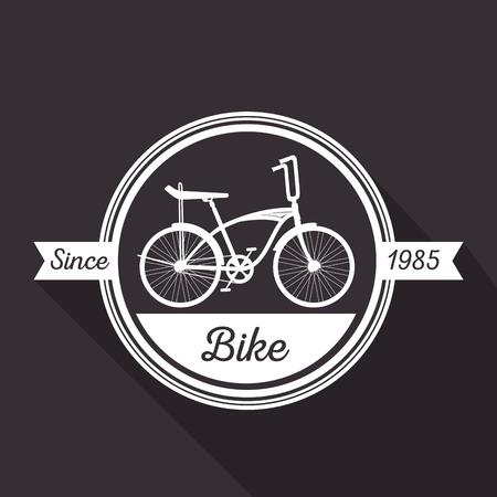 emblem bicycle shop transport vehicle vector illustration Illustration