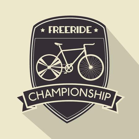 bicycle emblem sport championship lifestyle vector illustration Ilustrace