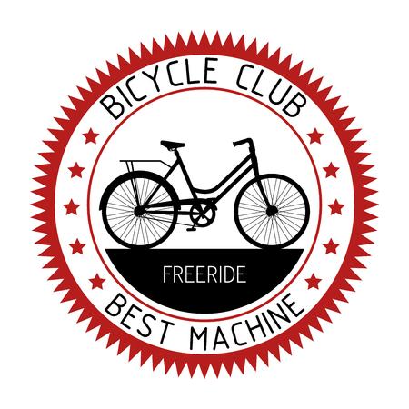 bicycle emblem sport club design vector illustration Ilustrace