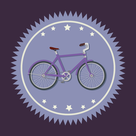 bicycle shop emblem to sport vehicle vector illustration