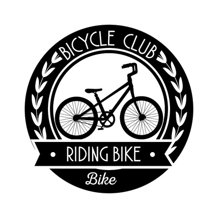 bicycle shop emblem with repair service vector illustration