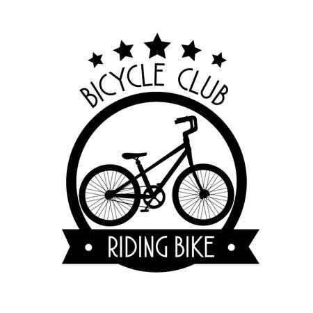 emblem bicycle transport club to ride vector illustration Ilustrace