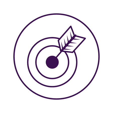 obiettivo con progettazione dell'illustrazione di vettore dell'icona della freccia