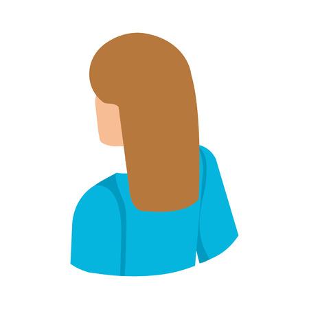 elegant businesswoman back avatar character vector illustration design