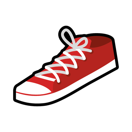 young sport shoes icon vector illustration design