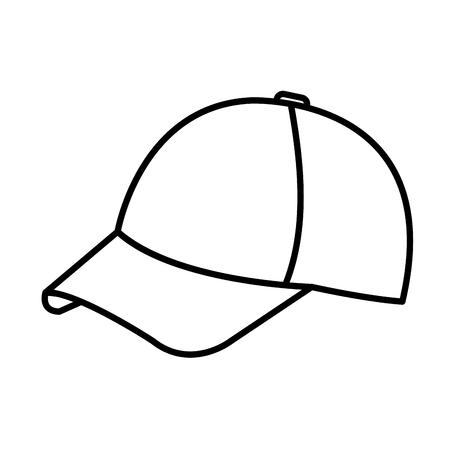 sport cap isolated icon vector illustration design