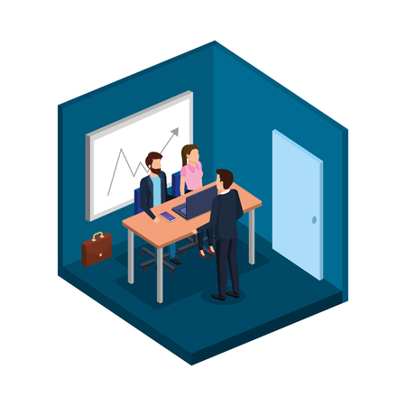 group of business people in the office vector illustration design Archivio Fotografico - 113896177