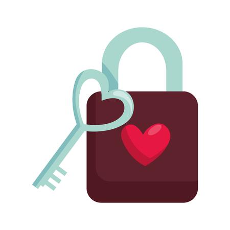 padlock with heart love icon vector illustration design