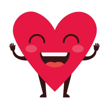 heart love kawaii character vector illustration design Illusztráció