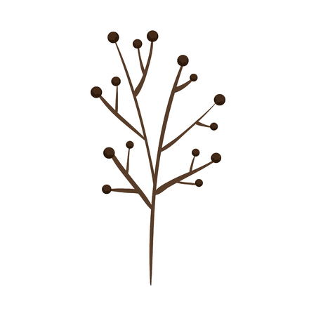 branch plant dry icon vector illustration design