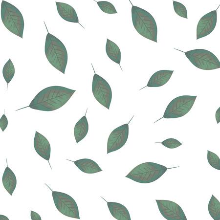 ecology leafs plants pattern vector illustration design